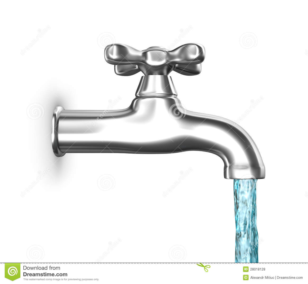 Water Faucet Running Clipart Water Faucet With Flowing