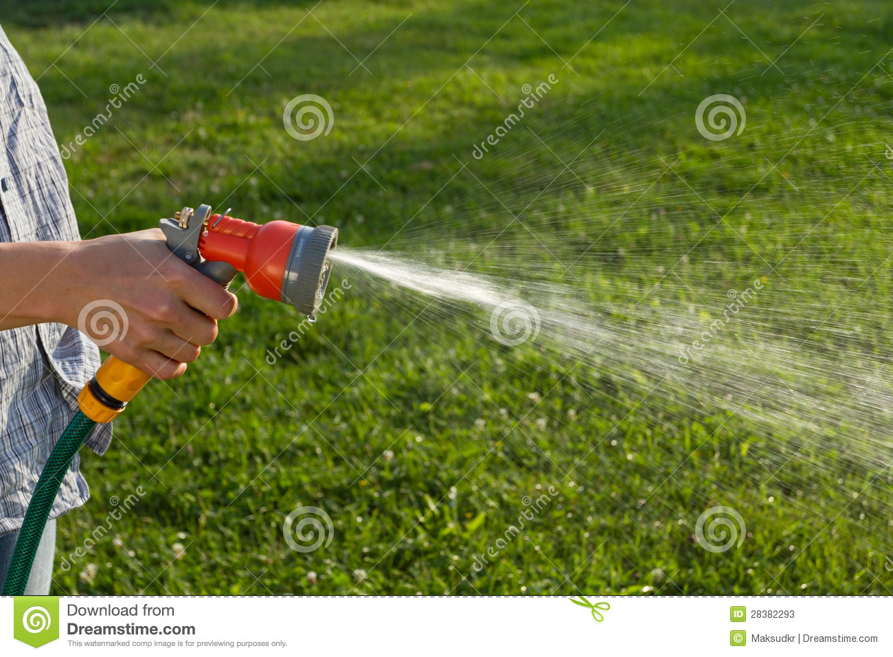 Watering The Lawn Stock Photos   Image  28382293