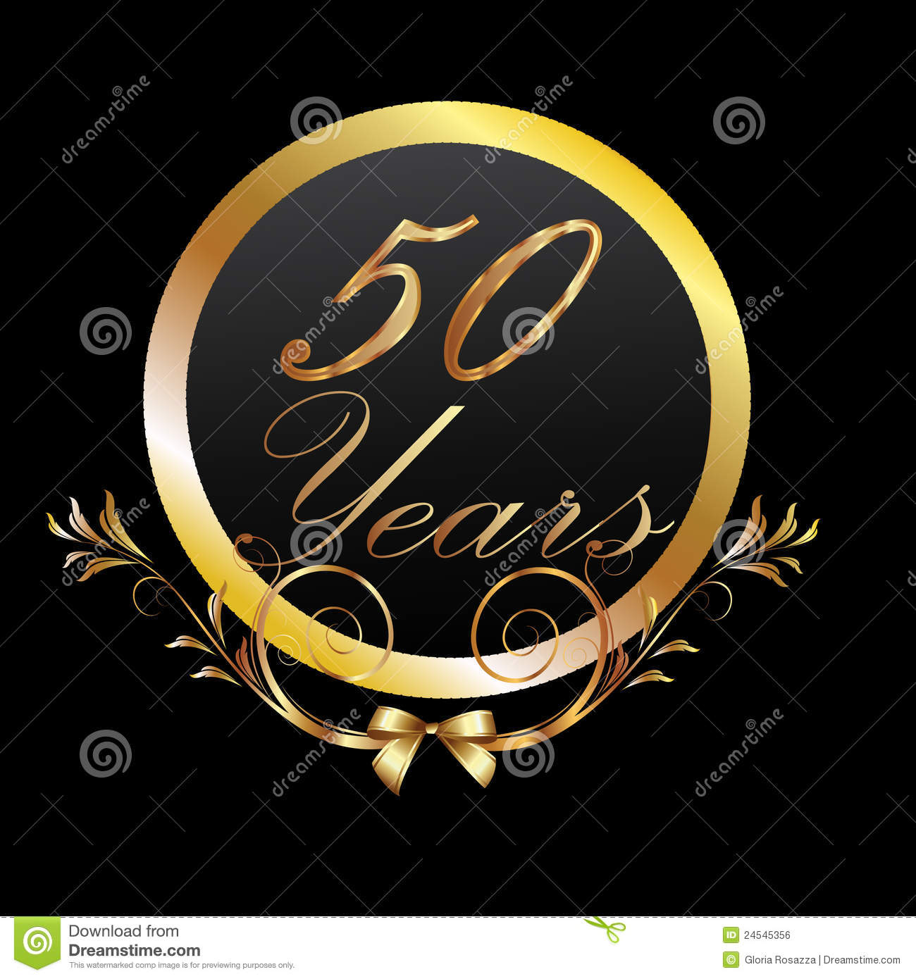 50 Years Gold Royalty Free Stock Image   Image  24545356