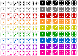 Dice Clipart Colorful Dice Clipart For