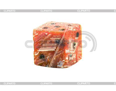 Double Exdouble Exposure Gaming Dice With Urban Landscape Insideposure