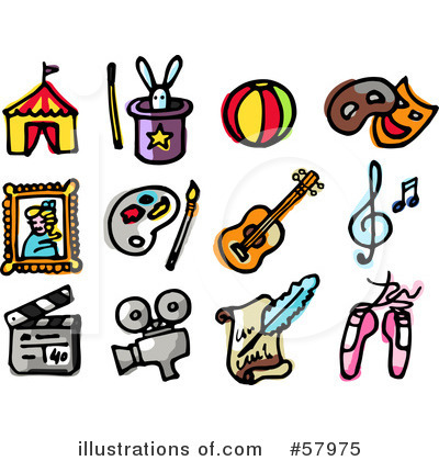 Entertainment Clipart  57975 By Nl Shop   Royalty Free  Rf  Stock