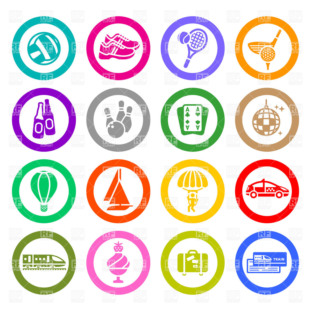 Entertainment Icons Set 17993 Download Royalty Free Vector Clipart