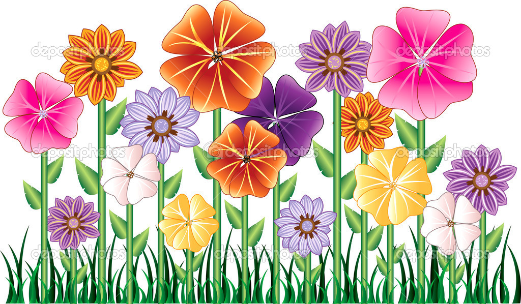 Flower Garden   Stock Vector   Basheeradesigns  3003101
