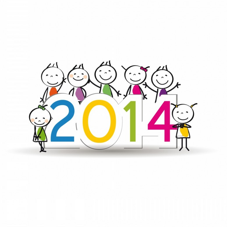 Happy new year 2014 Vector clipart and illustrations (3,358)