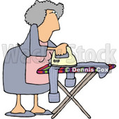 Housewife Ironing Clothes Clipart Picture   Dennis Cox  6016