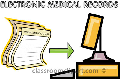 Medical   Patients Electronic Records Computer   Classroom Clipart