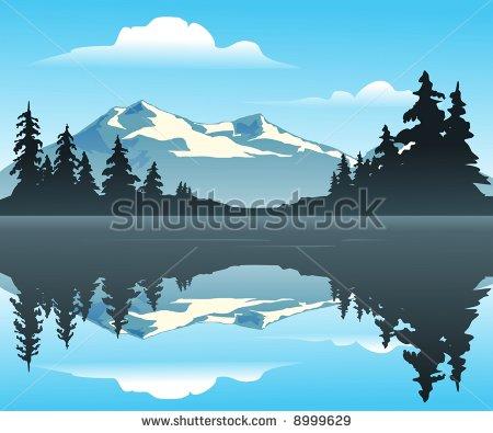 Mountain Scene Clipart Mountain Lake   An Outdoor