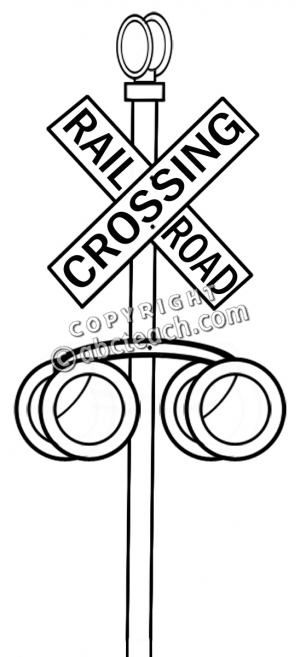 Railroad Clipart Railroad Crossing Sign Bw Pw Png