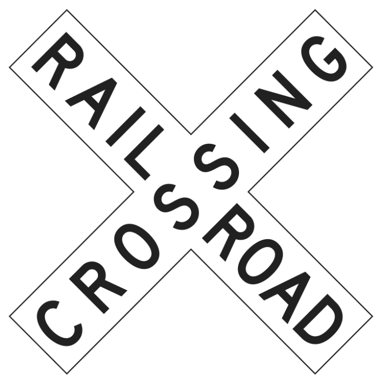 Railroad Crossing Sign    Page Frames Full Page Signs Traffic Signs 1