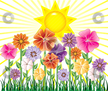 Spring Day Stock Vector Clipart Vector Illstration Of A Spring Day