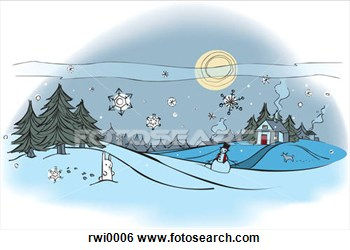 Stock Illustration   An Outdoor Winter Scene  Fotosearch   Search Clip