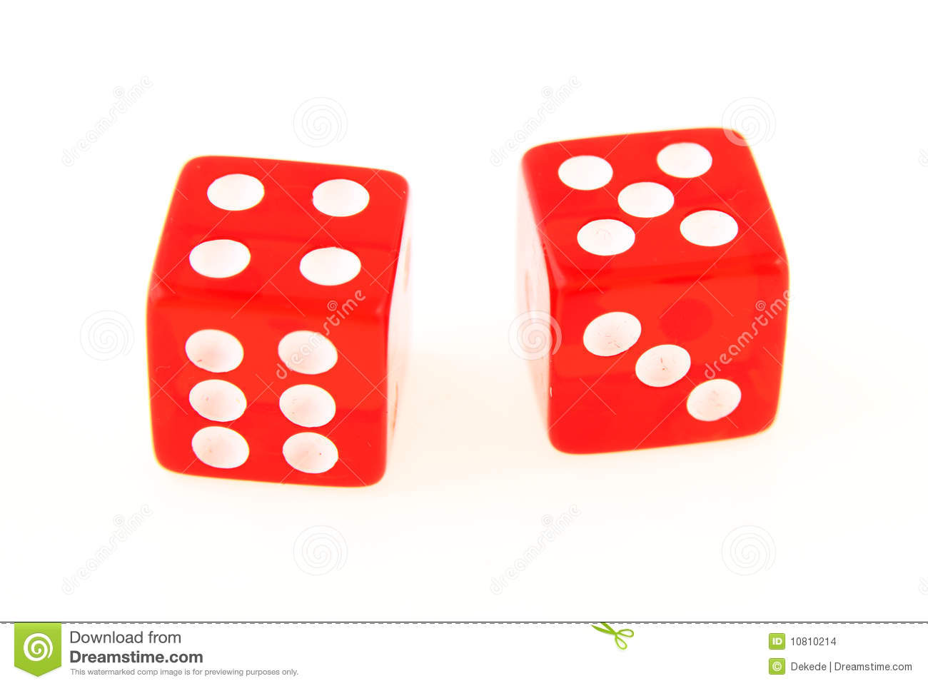 Stock Images  2 Dice Close Up   Showing The Numbers 4 And 5  Image