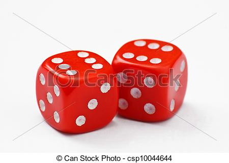 Stock Photo Of Double Six Dice   Pair Of Red Dice Thrown To A Double