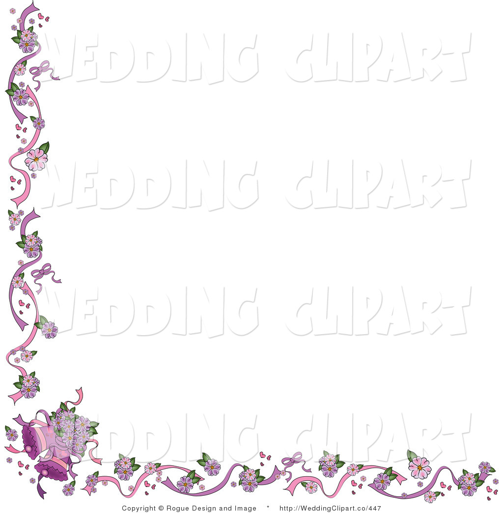 Wedding And Certificate Floral Border Border Clipart: Wedding Edges Clipart