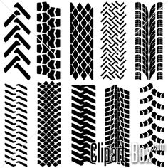 Clipart Tire Tracks Set More Vector Clipart Free Vector Clipart Tire