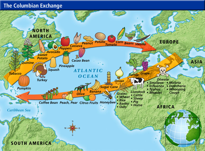 the colonization and exploration in north america and africa brought both good and bad new things
