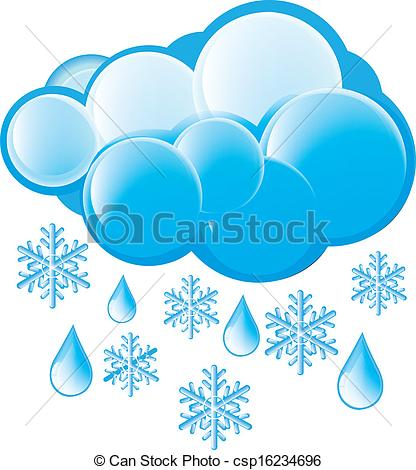 Eps Vectors Of Snow And Rain Icon Csp16234696   Search Clip Art