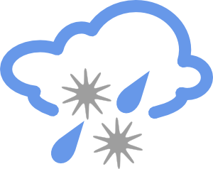 Hail And Rain Weather Symbol Clip Art At Clker Com   Vector Clip Art