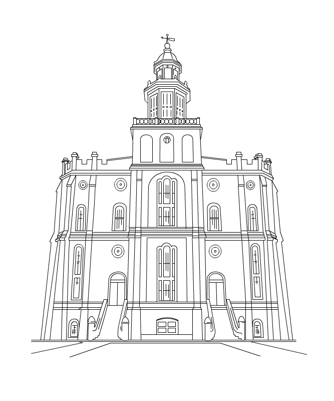 New Temple Clipart   St George Draper Ogden
