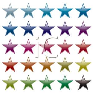 Set Of Stars Background   Royalty Free Clipart Picture