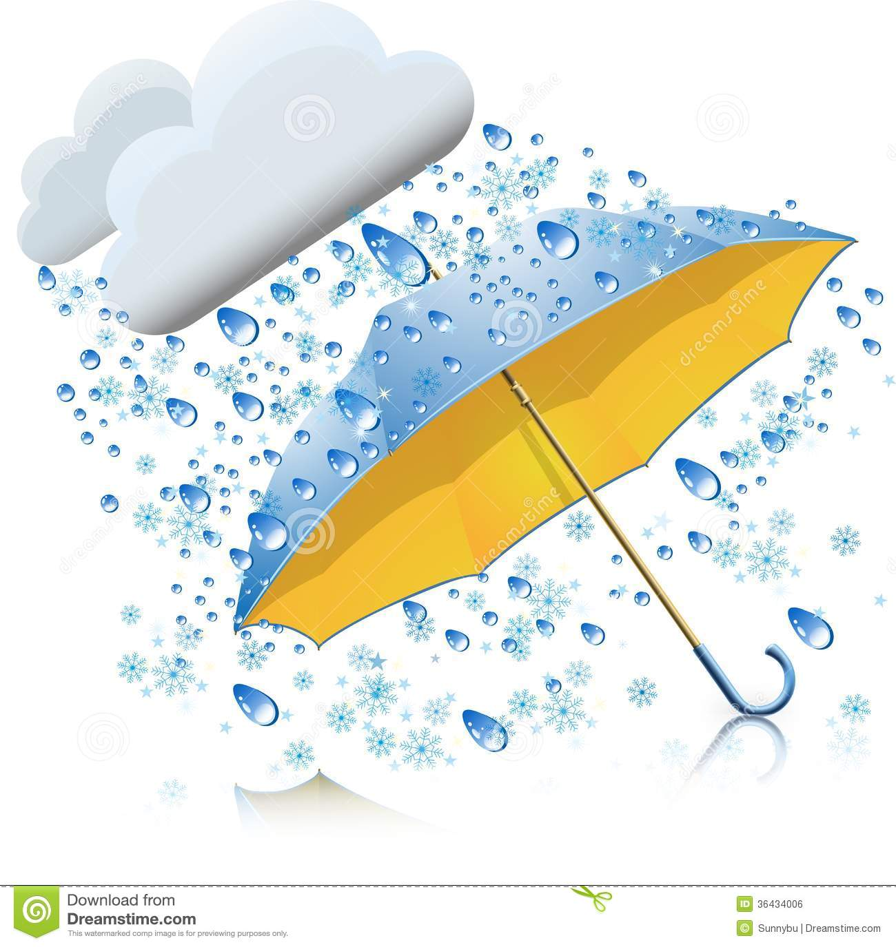 Snow With Rain And Umbrella Royalty Free Stock Image   Image  36434006