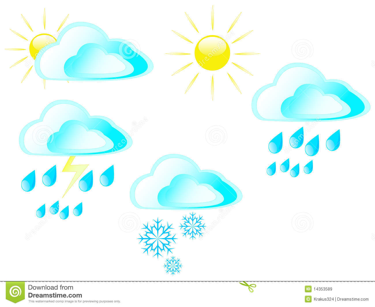 Sun Clouds Rain Snow And Storms Royalty Free Stock Images   Image