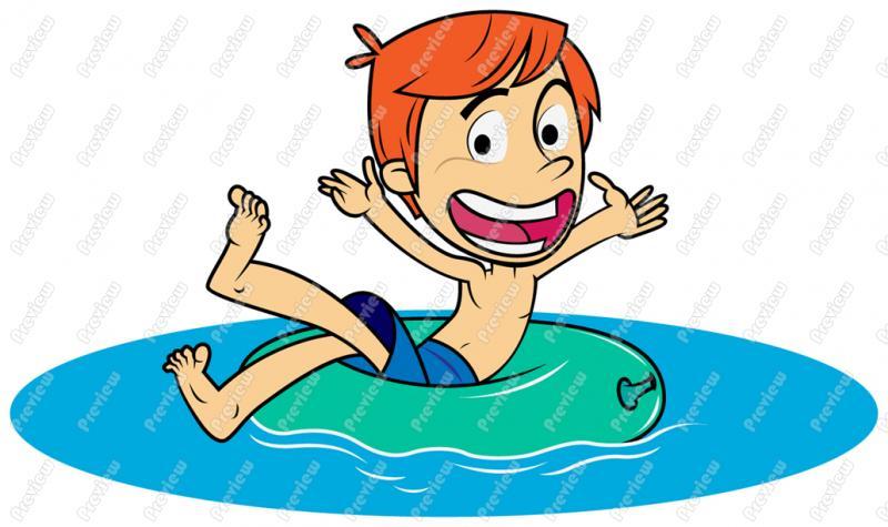 Boy Swim Team Clipart