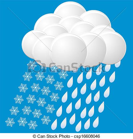 Vector   Icon Of Snow And Rain   Stock Illustration Royalty Free