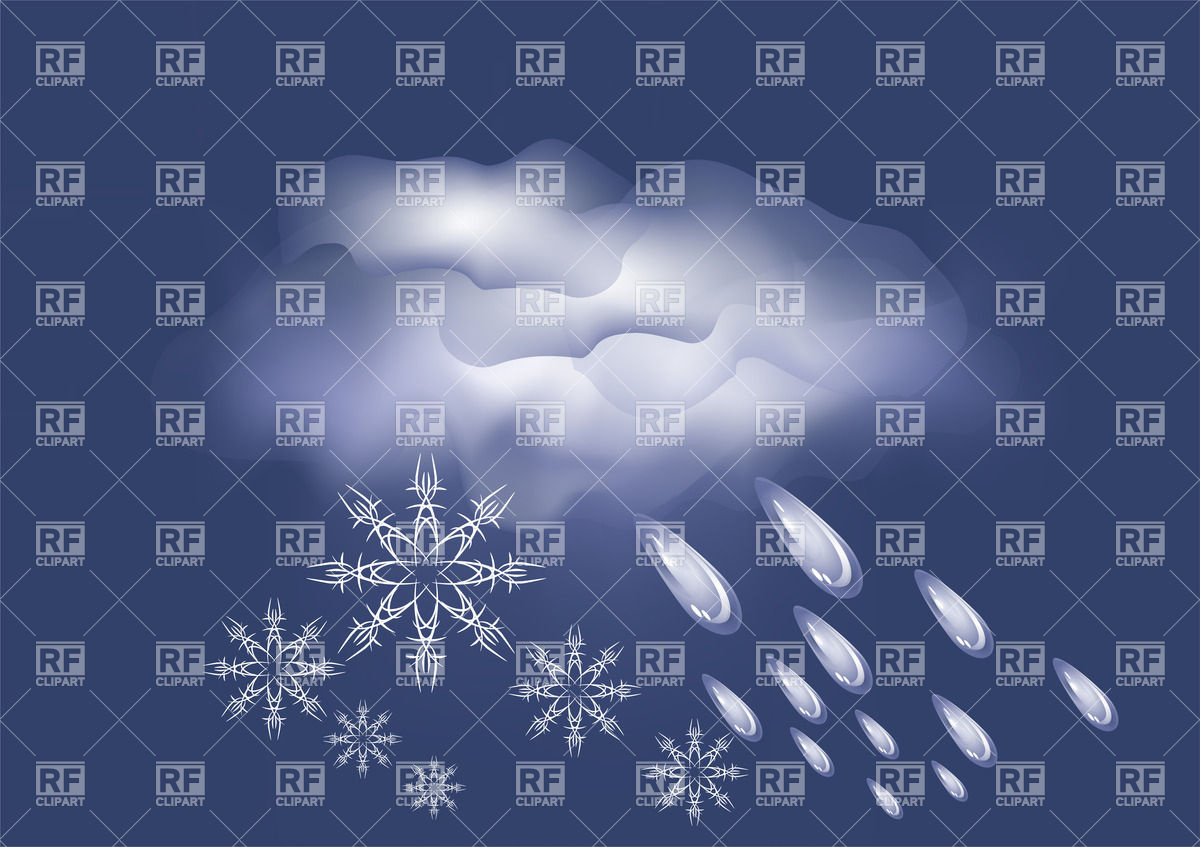 Weather Icon   Cloud With Rain And Snow 27359 Backgrounds Textures