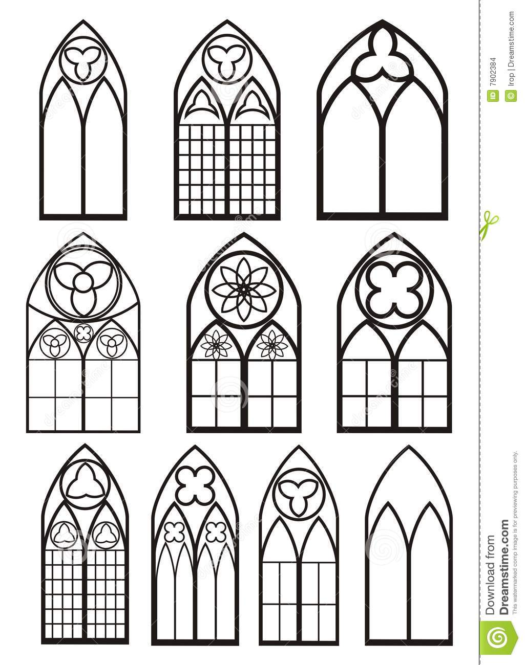 Gothic window clipart clipart suggest for Window design vector