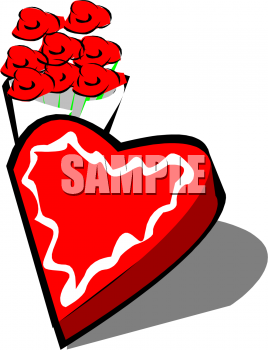 350   45 Kb   Png Heart Shaped Box Of Valentine Candy Clipart Image