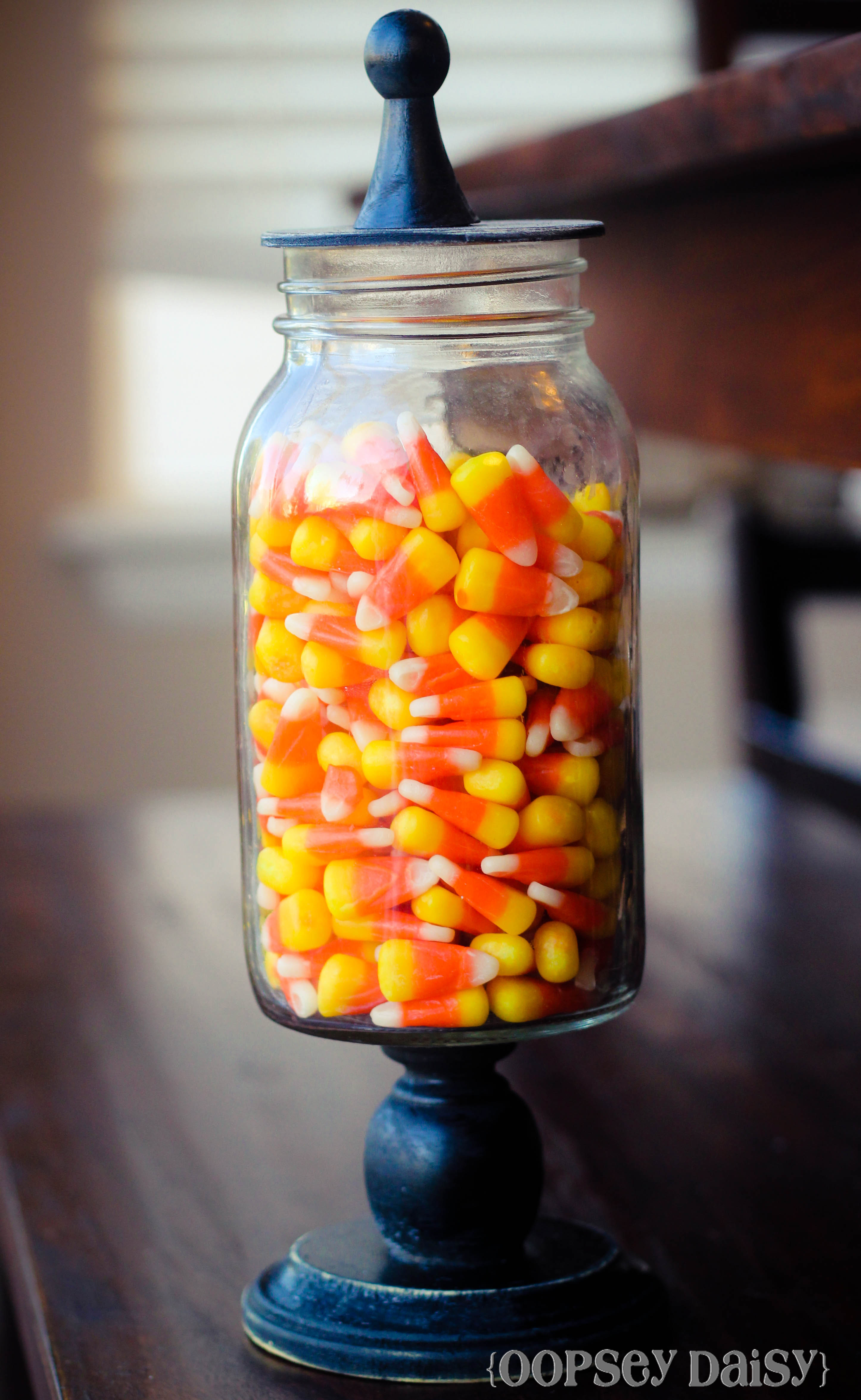 Added Some Festive Candy Corn To My Diy Mason Jar Apothecary Jars