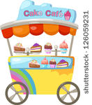 Bakedbatch Berriesbrowncakecandycart Stallcherrychildchocolate