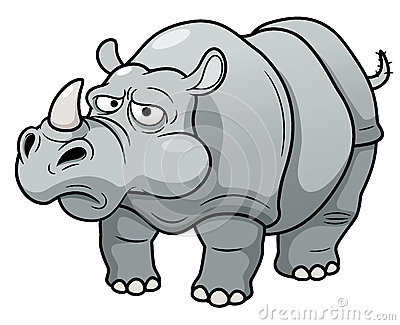 Cartoon Rhino Stock Photos   Image  29321013