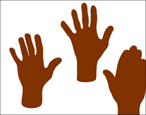 Clipart Three Hands Vector