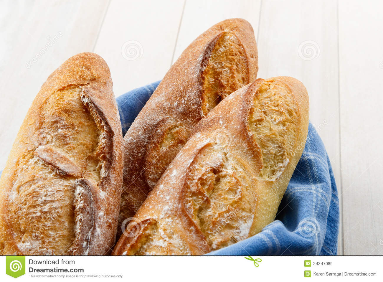 Crusty Artisan French Baguette Bread Royalty Free Stock Images   Image
