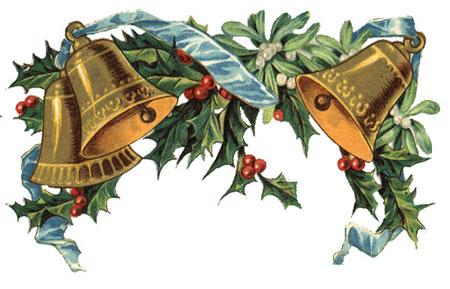 Vintage Christmas Bells Clipart - Clipart Kid