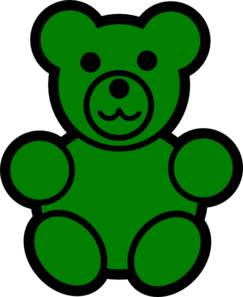 Green Bear Clip Art At Clker Com   Vector Clip Art Online Royalty