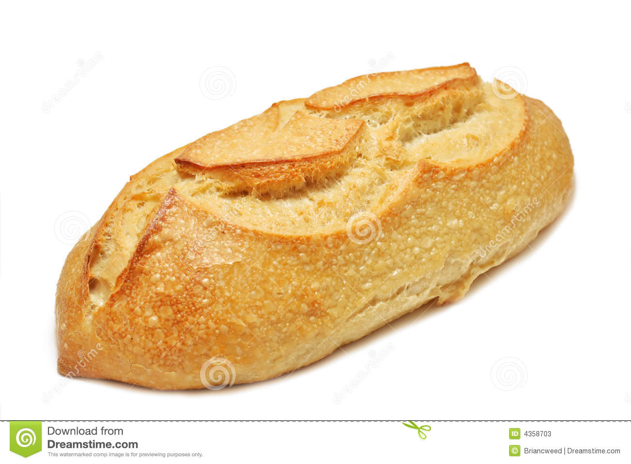 Loaf Of Unsliced Artisan Sourdough Bread Isolated On White
