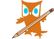Open Book With Pencil Outline Owl With Pencil Hits 817