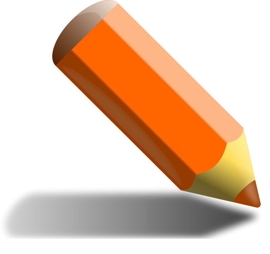 Orange Pencil Clipart Vector Clip Art Online Royalty Free Design