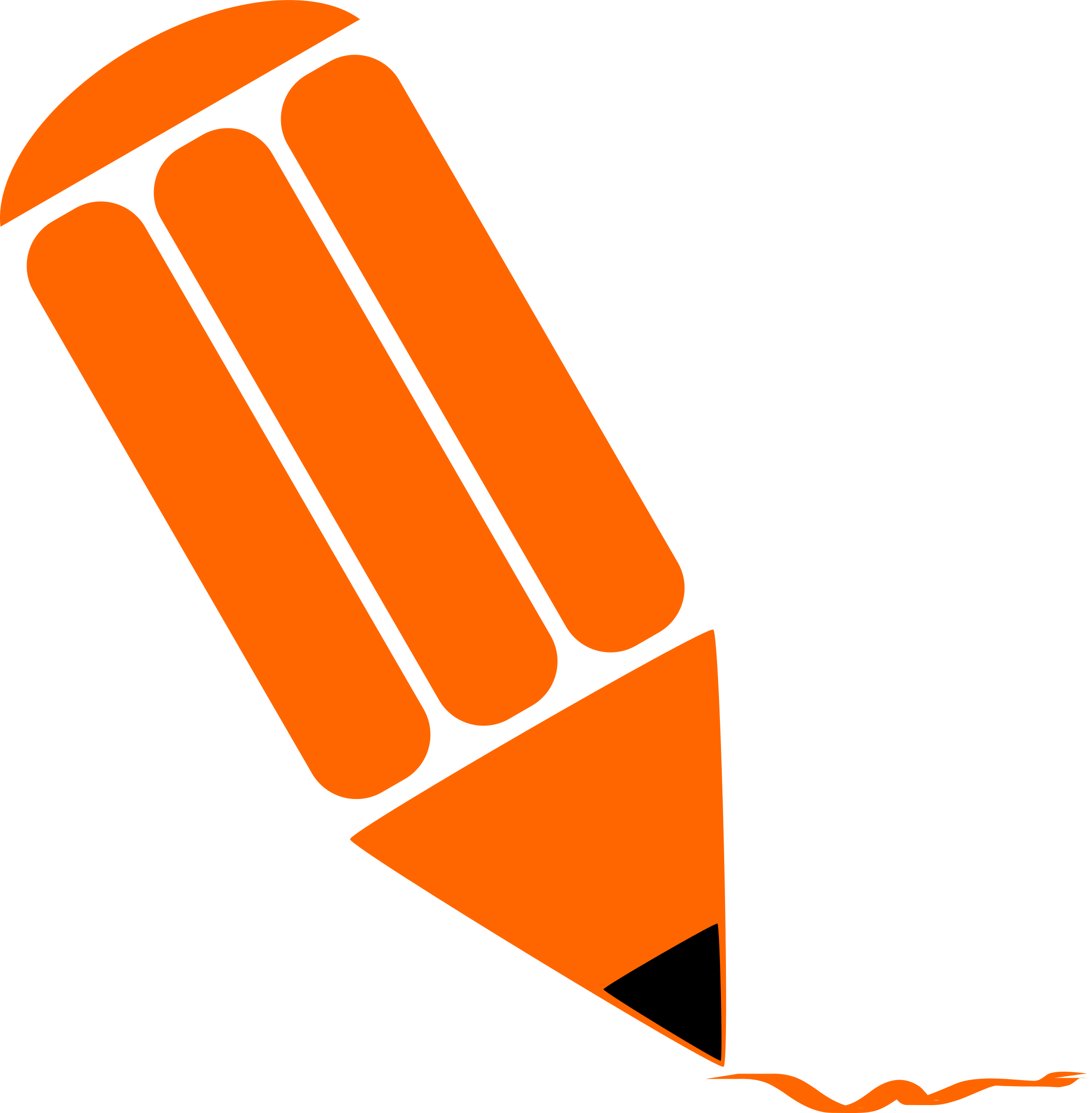 Pencil Stylized Orange