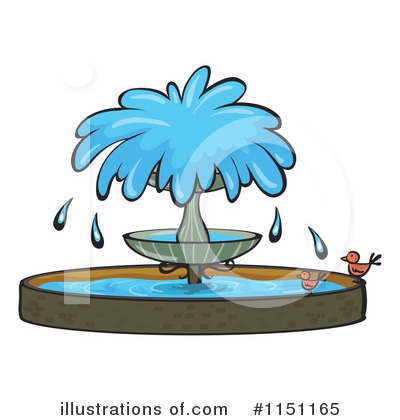 Royalty Free  Rf  Water Fountain Clipart Illustration By Colematt