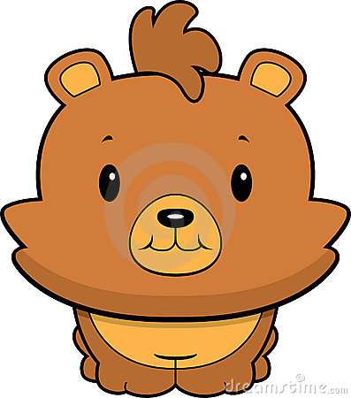 Sad Bear Cub  Cartoon Royalty Free Stock Photography   Image  22985047