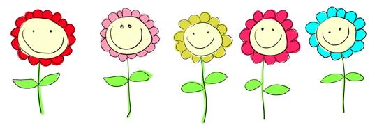 Smiling Flowers Clip Art 540 Jpg