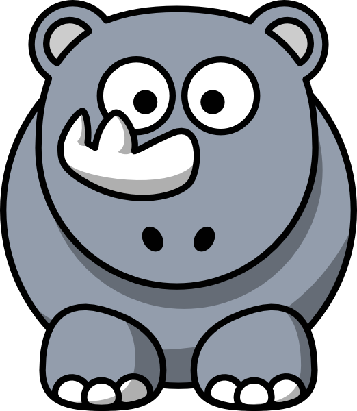 Studiofibonacci Cartoon Rhino Clip Art At Clker Com   Vector Clip Art