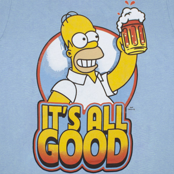 The Simpsons Homer Beer Mug It S All Good Blue Graphic T Shirt