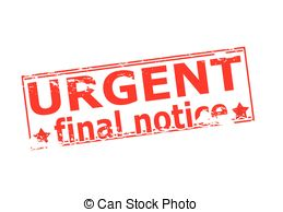 Urgent Final Notice   Rubber Stamp With Text Urgent Final