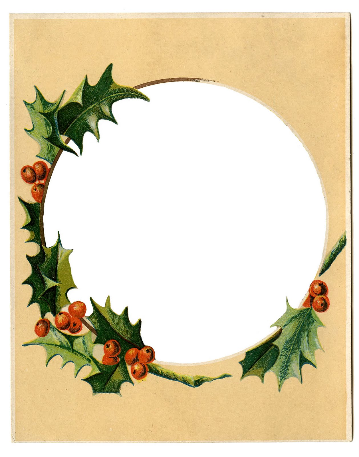 Victorian Christmas Borders Clipart - Clipart Kid